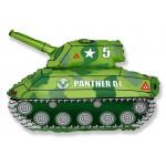 Шар (14''/36 см) Мини-фигура, Танк, Зеленый, 1 шт.